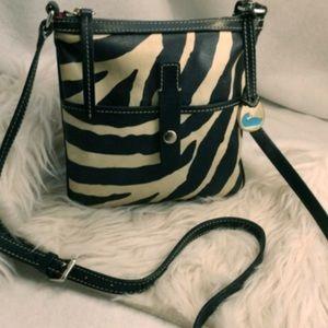Dooney & Bourke Leather Zebra Crossbody
